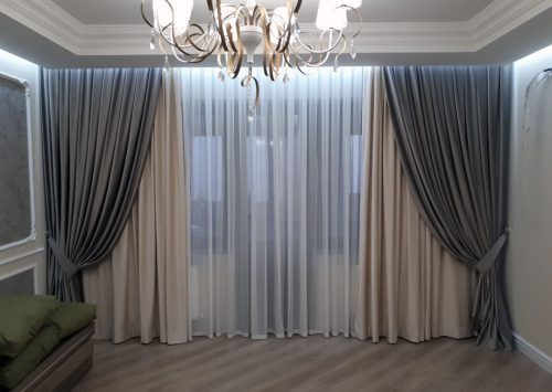 draperii salon stofa